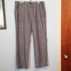NWT Gap Factory linen/cotton wide leg pants, 12R
